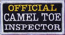 OFFICIAL CAMEL TOE INSPECTOR -   VEST PATCH -  BIKER
