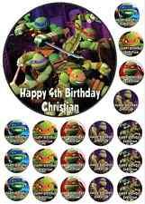TMNT Teenage Mutant Ninja Turtle Personalised *ICING* Cake + Cupcake Toppers