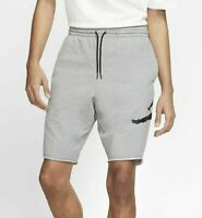 Nike Jordan Jumpman 'Grey Logo' Fleece Shorts - Men's Size Medium, AQ3115-091