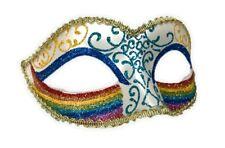 Rainbow Half Eye Mask Masquerade Pride Parade Costume Accessory Glitter A