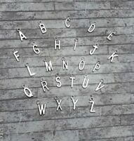 Silver Letter Charms Choose Letters Alphabet Initial Jewellery Craft Bracelet
