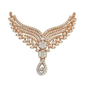 3.56ct Natural Round Diamond 14K Solid Rose Gold Anniversary Wedding Necklace