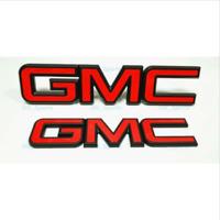 1 NEW CUSTOM 15-18 GMC SIERRA CANYON CHROME AND BLACK TAILGATE EMBLEM 23122158