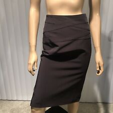 Irene Van RYB Black Lined Straight Pencil Skirt - Sz 38