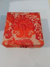 Two Decorated Cloth Square Trinket box