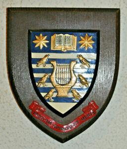 Royal School of Church Music wall plaque crest shield