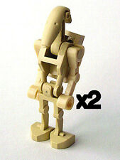 LEGO 2) STAR WARS Battle Droids w/Backpack Plate bent arms Minifigure NEW x2