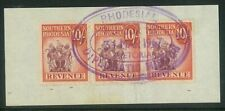 """SOUTHERN RHODESIA - 1954 Arms Revenues 10/- (3) ..""""DIPLOMATIC MISSION"""" (ME971)*"""