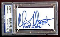 Chris Hanburger signed autograph 2x3.5 cut Football Hall of Fame PSA Slabbed