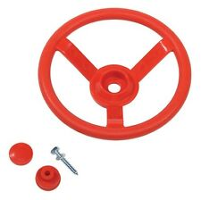 STEERING WHEEL~RED Cubby House Accessories Playground Equipment Fort