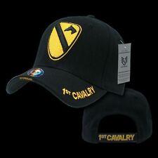 1st Cavalry US Military Veteran Baseball Caps Ball Hat Black Rapdom S001