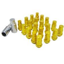 M12 X 1.5mm Gold Aluminum Wheel Lug Nuts 20 Pcs w/Lock Yaris Matrix Prius C MR2