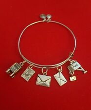 "Silver ""Mail Carrier"" Themed Charm Bracelet (postal worker, mail, letter carrier"