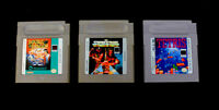 Lot of 3 Nintendo GameBoy Games  Double Dragon WWF Superstars & Tetris - Tested