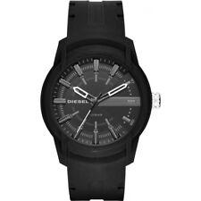 DZ1830 New Genuine DIESEL Armbar Black Silicon / Rubber Strap Watch RRP £99