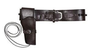Cowboy Holster & Belt Set Faux Leather SIngle Gun Holder Fancy Dress Accessory