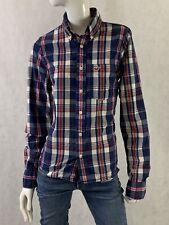 Hollister Plaid Long Sleeve Cotton Women's Causal Button Down Shirt Size Small