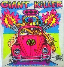 Original Giant Killer Vw Volkswagen Car Iron On Transfer Big Daddy Rat Dayglo