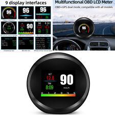 Car OBD2 GPS Gauge HUD Head-Up Digital Display Speed Turbo Data Test Scan Tool
