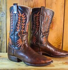 Vintage Custom Made Boots Size 8.5 D Men Handmade Western Cowboy Boots