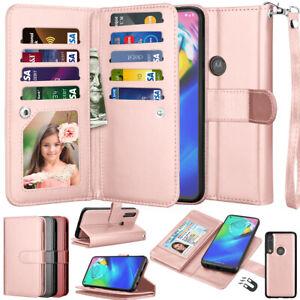 For Motorola Moto G Power / Moto G stylus 2020 Leather Wallet Flip Case Cover