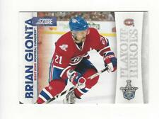 2010-11 Score Playoff Heroes #20 Brian Gionta Canadiens