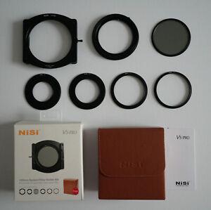 NiSi V5-PRO 100mm System Filter Holder Kit including Case + 49,58,72,77mm rings