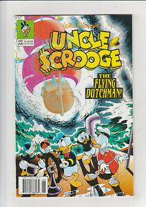 Uncle Scrooge #255 F+ Disney comic 1991 Flying Dutchman