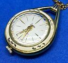 VTG Sheffield Swiss Lady Art Deco Hand-Wind Necklace Pendant Pocket Watch Hours