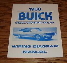 1968 Buick Special Gran Sport Skylark Wiring Diagram Manual 68