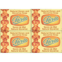4 Pack Pardo Natural Honey Glycerine Soap Skin Moisturizer Jabon Glicerina Miel