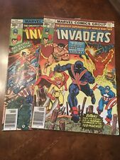 Lot of 2 Marvel The Invaders #20 21 comic books bronze age