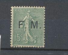 FRANCHISE MILITAIRE. N°3, 15c. vert-olive NEUF* SIGNE CALVES COTE 80€ J174
