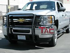 TAC 2007-2013 CHEVY SILVERADO 1500 GRILL GUARD BLACK Brush Nudge Push Bull Bar