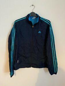 Vintage Adidas Sports Track Retro Shell 90s Men's Navy Blue Jacket Small