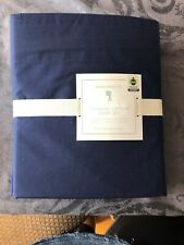 NEW Pottery Barn KIDS Organic FULL Sheet Set w/Pillowcases, Navy MSRP $79