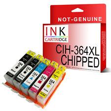 364 XL SET OF 5 NON-OEM INK REPLACE FOR HP B8550 C5324 C5380 C6324 Chipped