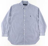 Polo Ralph Lauren Mens 16.5 32/33 Long Sleeve Button Down Dress Shirt Striped