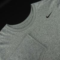 Mens Nike Dri Fit Gray Long Sleeve Athletic Shirt Size 2XL XXL Performance Sport