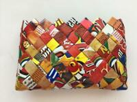 mini wallet clutch purse handmade from candy wrappers pouch recycle upcycle 3x5