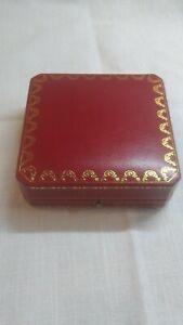 Cartier red leather presentation box 10 x 10 x 3cm