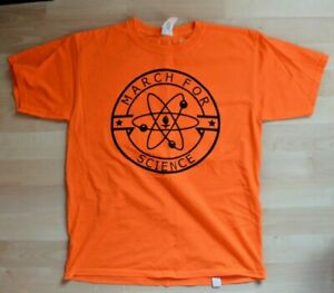 March For Science Resist Orange T-Shirt Youth Large Cal Tech Gildan