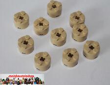 10X Lego® 3941 runde Basic Steine 2X2 hoch Beige Tan 6143, 6116 NEU