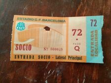 TICKET BARCELONA FOOTBALL CLUB SPAIN ESPAÑA NOU CAMP