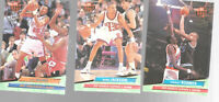 Lot of 3 1992-93 Fleer Ultra Pre Season Trades Basketball Cards