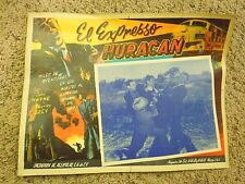 Vintage Mexican The Hurricane Express John Wayne Movie Lobby Card- In Spanish