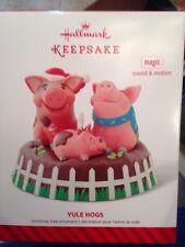 Hallmark Yule Hogs Singing Pigs With Magic Sound Ornament Nib