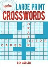 INGENIOUS EASY-TO-READ BOOK OF CROSSWORDS - NEW PAPERBACK