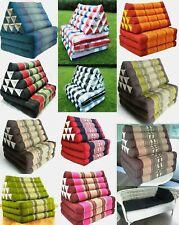 Thai triangle Pillow foldout Cushion 10 hole 3 fold Kapok100% Day Bed Home Decor