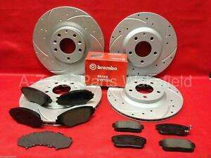 FOR MAZDA RX8 FRONT REAR DIMPLED GROOVED BRAKE DISCS BREMBO PADS 323mm 305mm